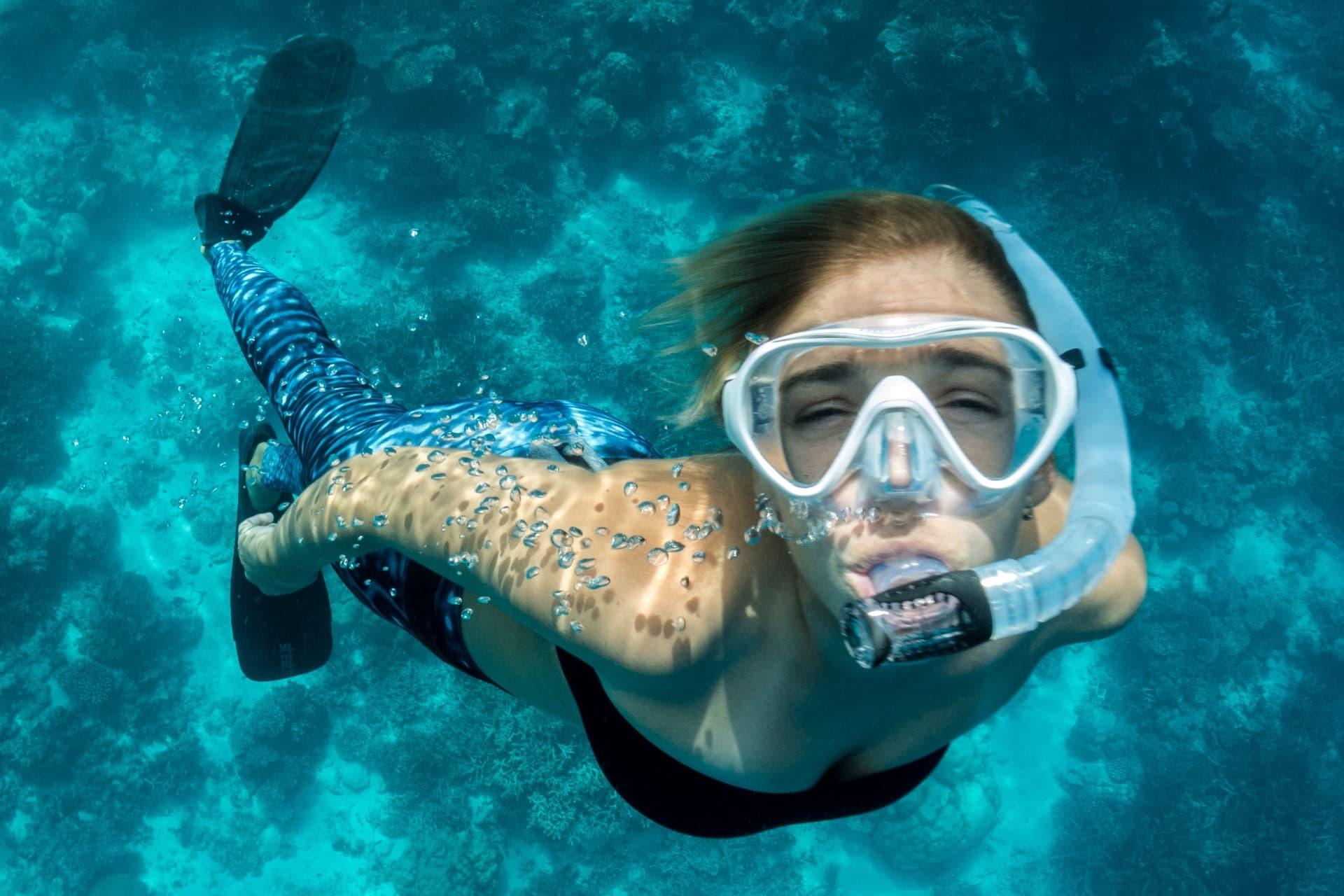 snorkel lady